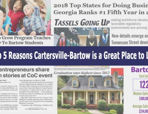 Top 5 Reasons Cartersville-Bartow is a Great Place to Live
