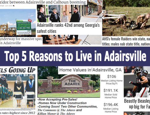 Top 5 Reasons to Live in Adairsville